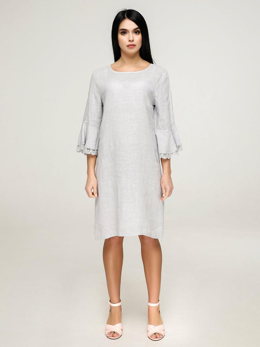 Платье светло-серое   4917541