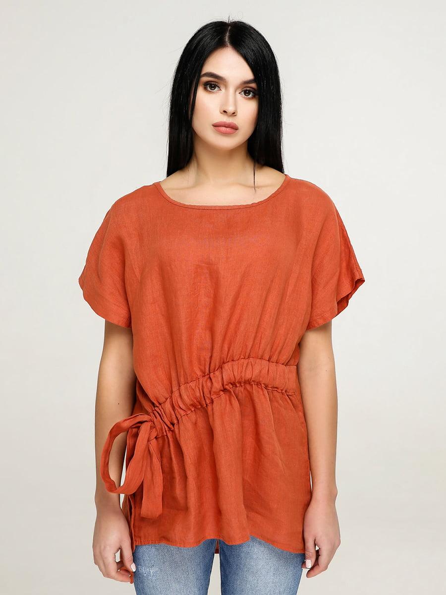 Блуза кольору охри | 4917566
