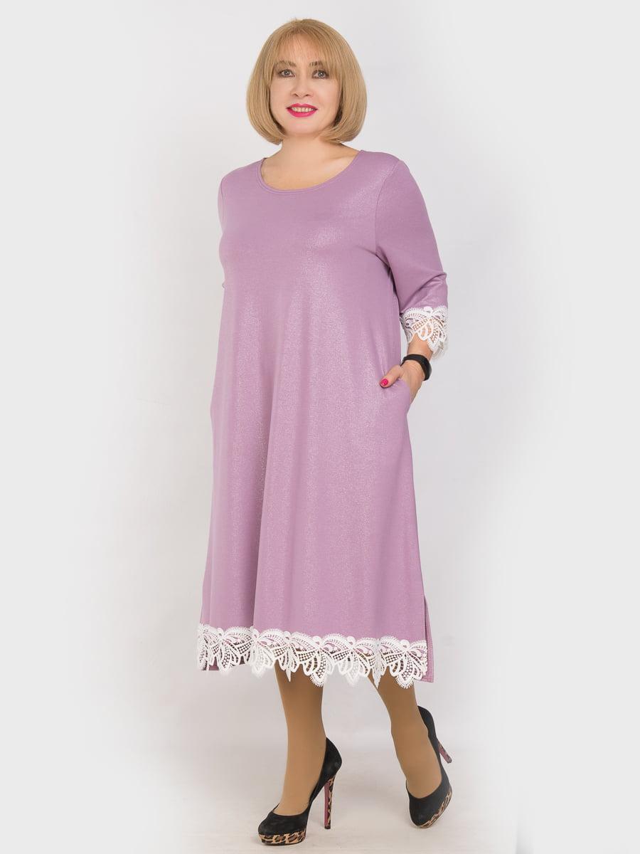 Платье сиреневое | 4914347