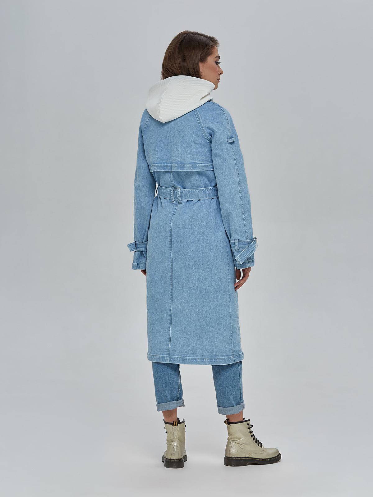 Плащ блакитний джинсовий | 4917996 | фото 3