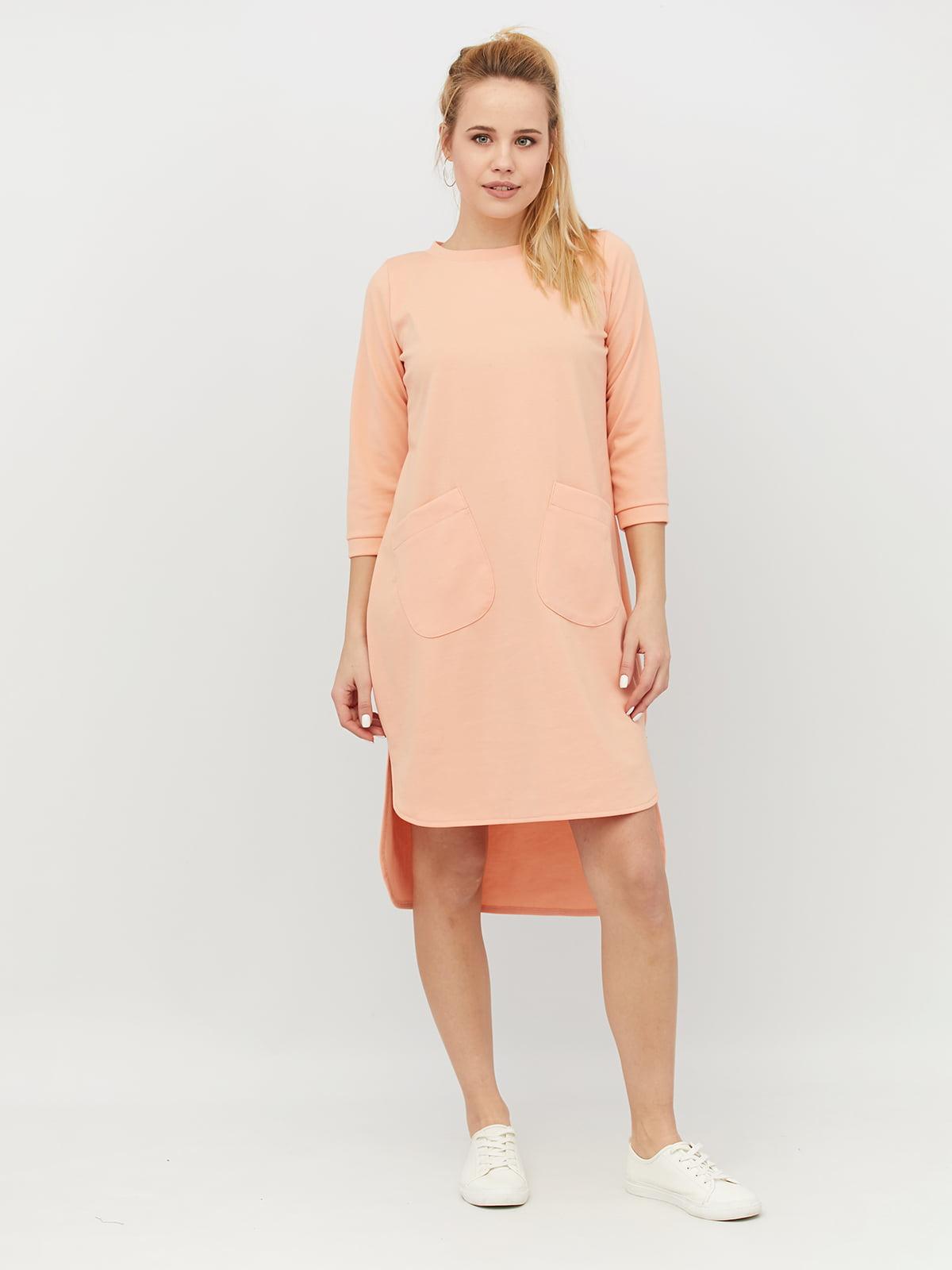 Платье персикового цвета | 4918237