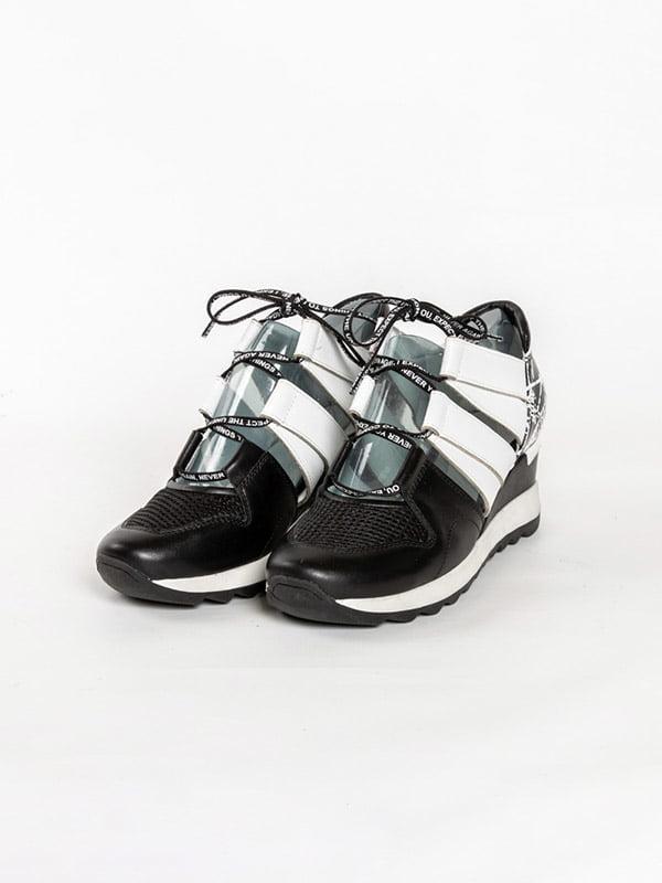 Кроссовки черно-белые | 4918562