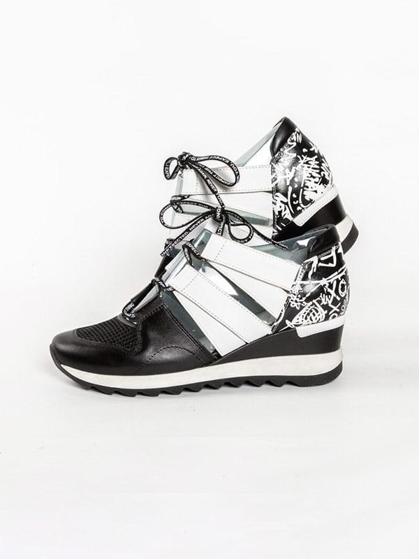 Кроссовки черно-белые | 4918562 | фото 2