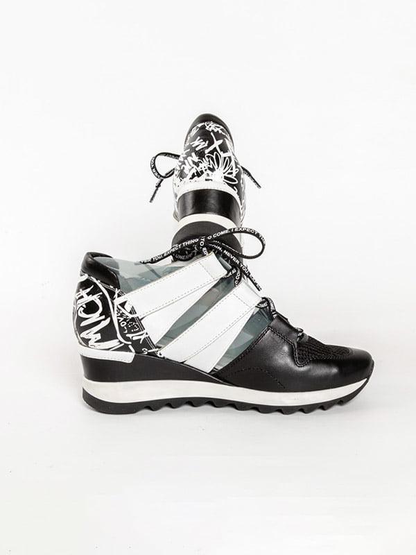 Кроссовки черно-белые | 4918562 | фото 4