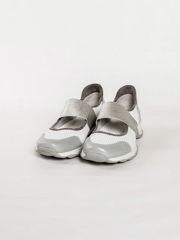 Туфлі біло-сірі | 4918563
