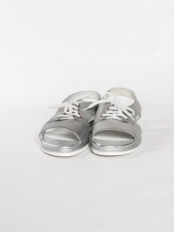Босоножки серебристые | 4918576