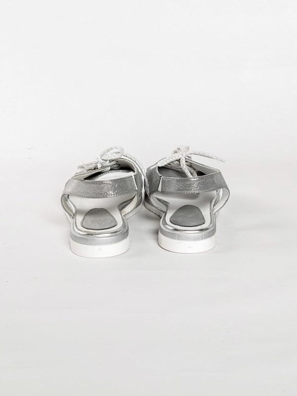 Босоножки серебристые | 4918576 | фото 3