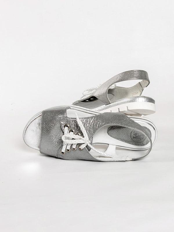 Босоножки серебристые | 4918576 | фото 5