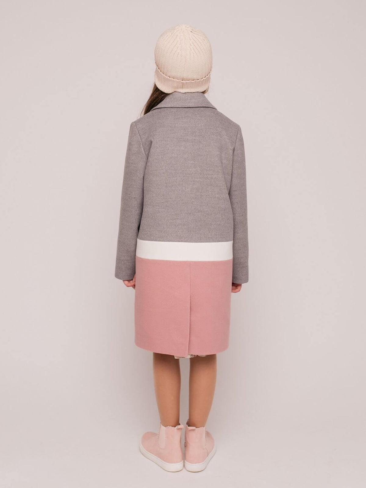 Пальто серо-розовое   4918896   фото 2