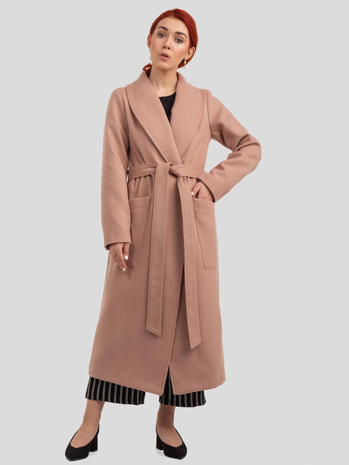 Пальто цвета пудры   4918993