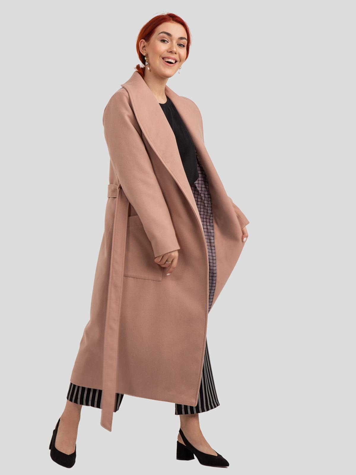 Пальто цвета пудры   4918993   фото 4