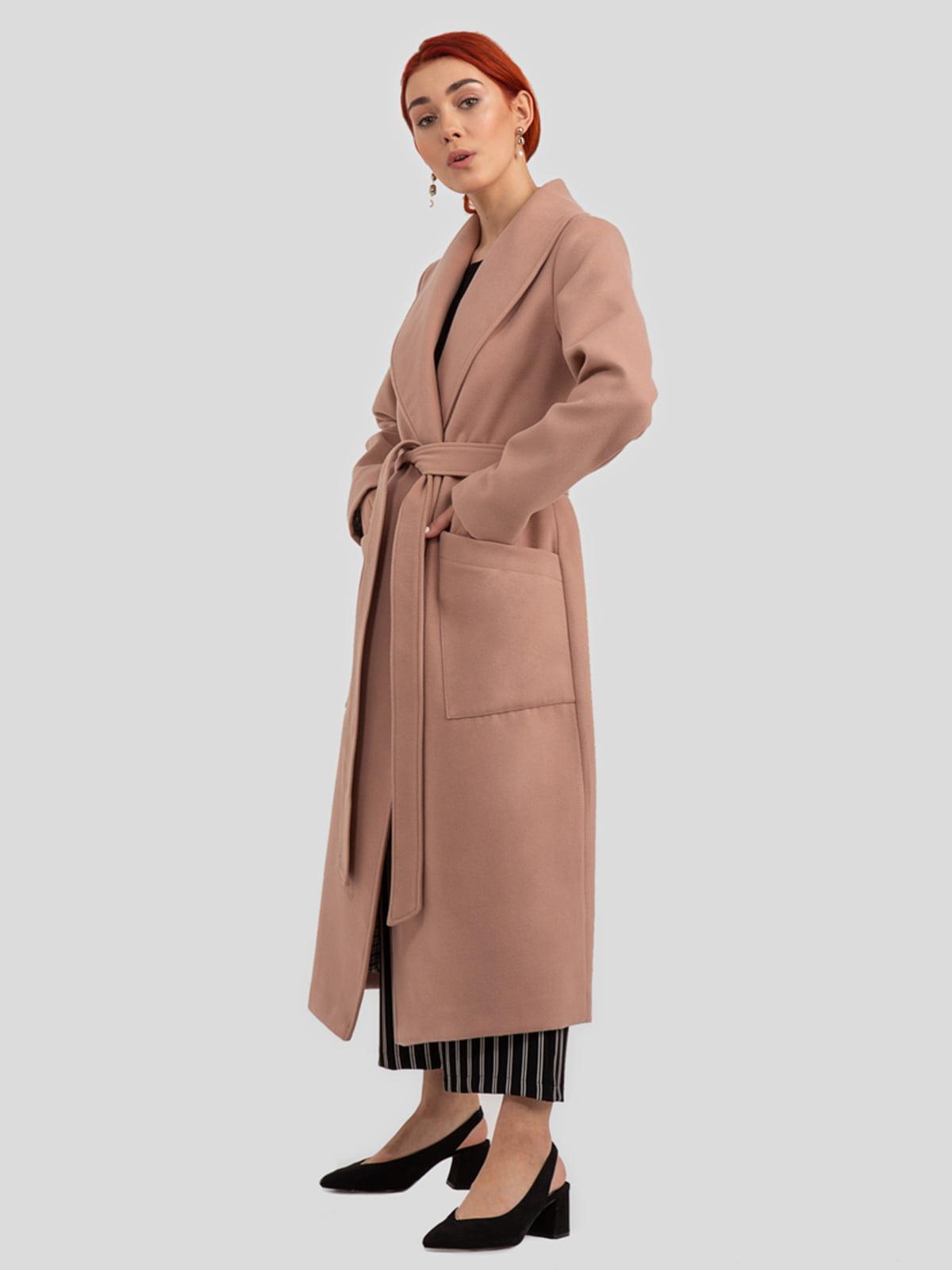 Пальто цвета пудры   4918993   фото 5