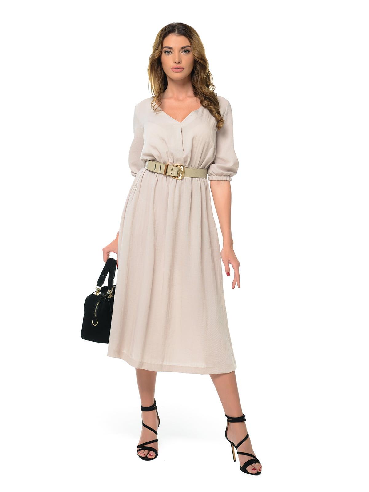 Платье бежевое | 4920311