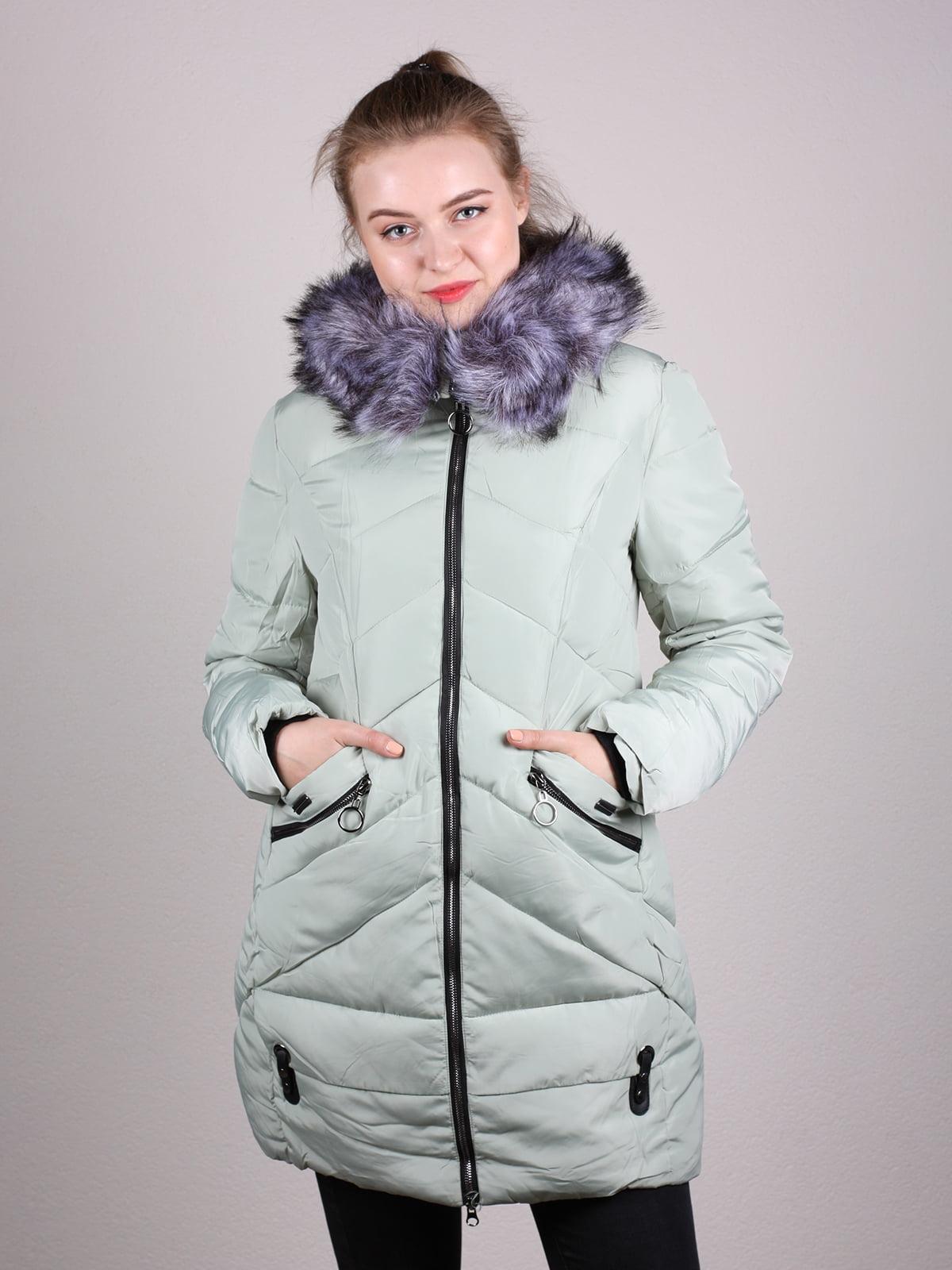 Пальто фисташкового цвета | 4690641 | фото 7