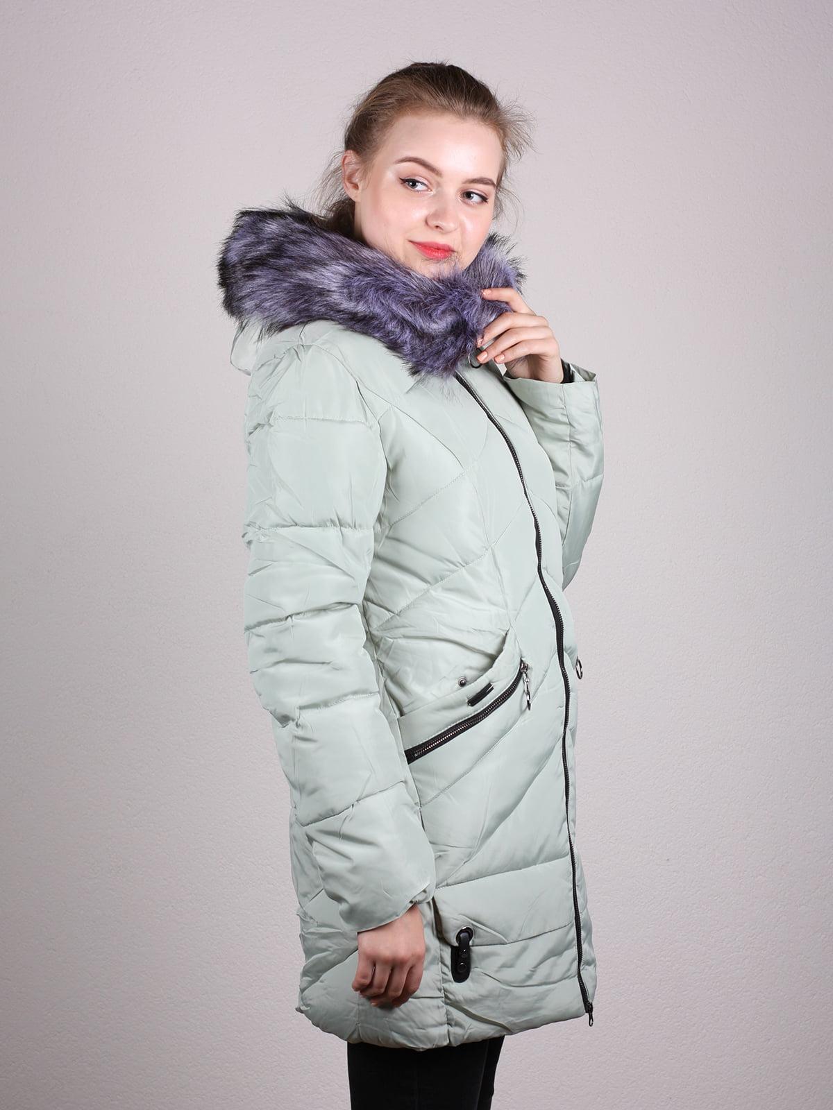 Пальто фисташкового цвета | 4690641 | фото 8