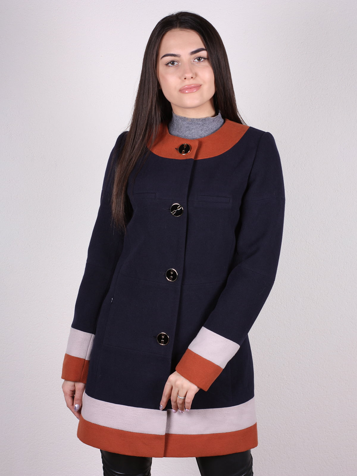 Пальто темно-синее | 4922382