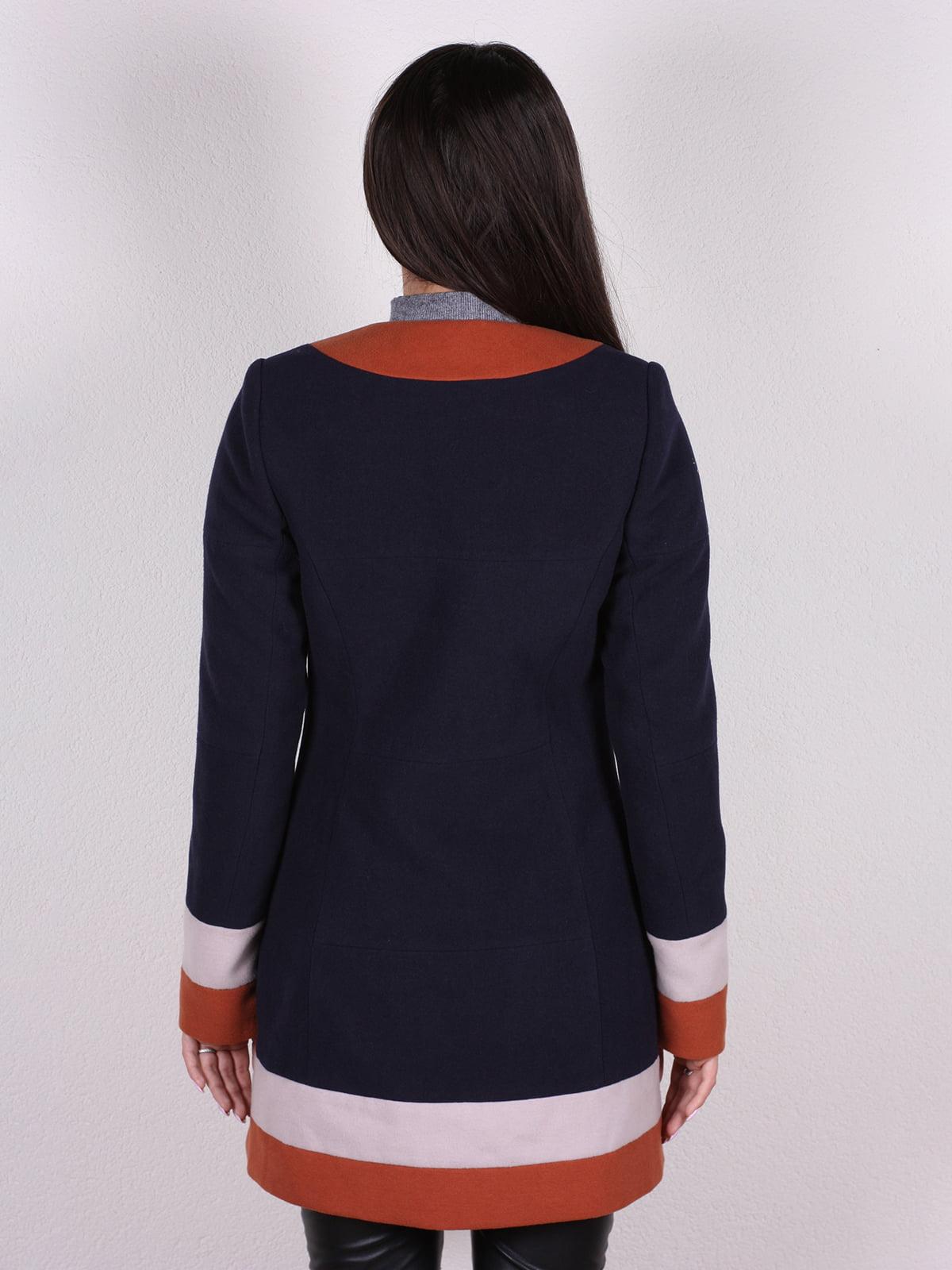 Пальто темно-синее | 4922382 | фото 3