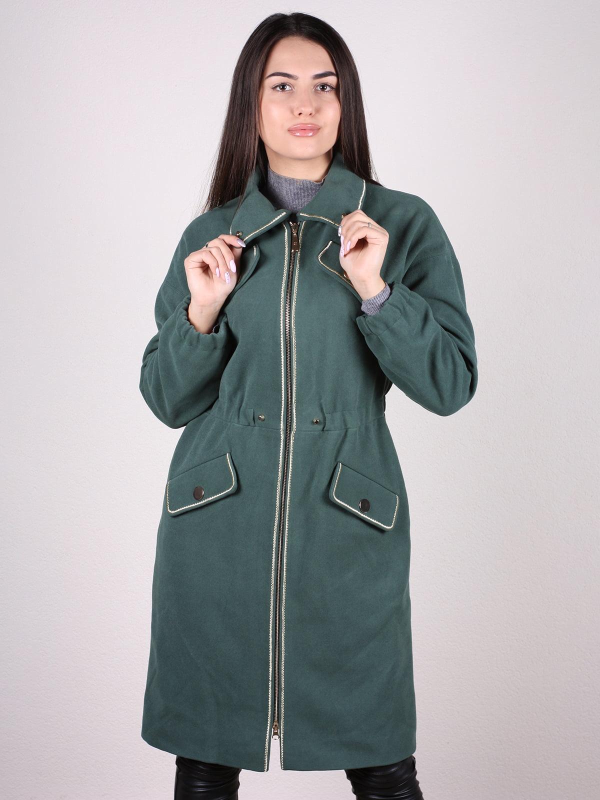 Пальто темно-зеленое | 4922385
