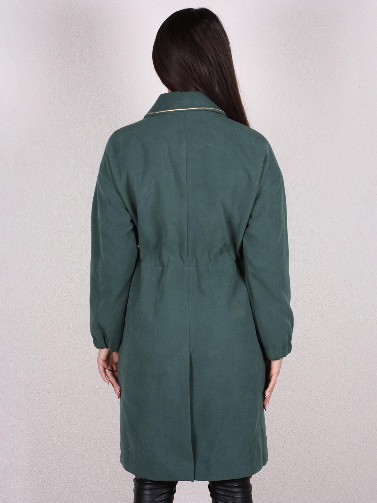 Пальто темно-зеленое | 4922385 | фото 3
