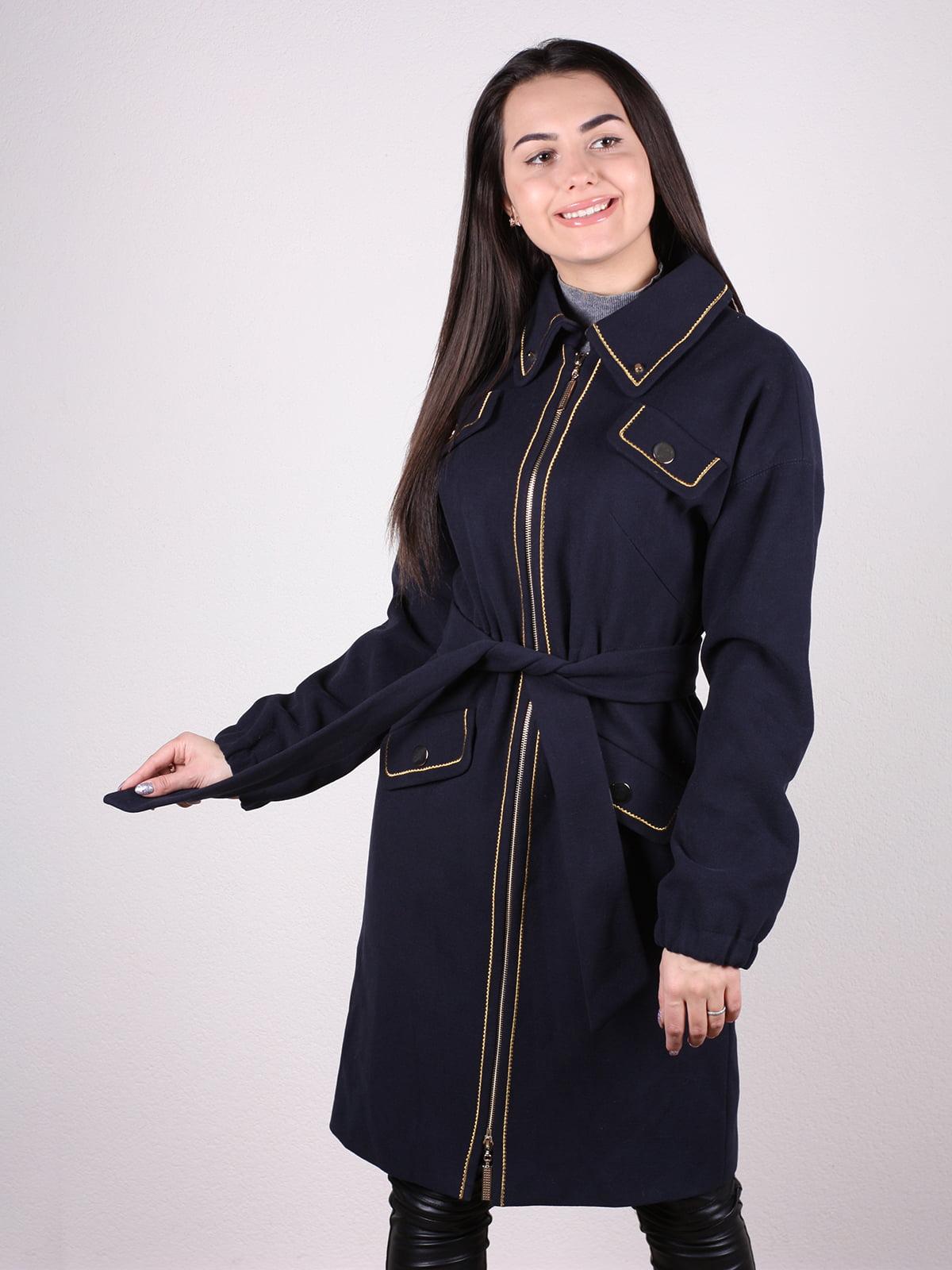 Пальто темно-синее | 4922386