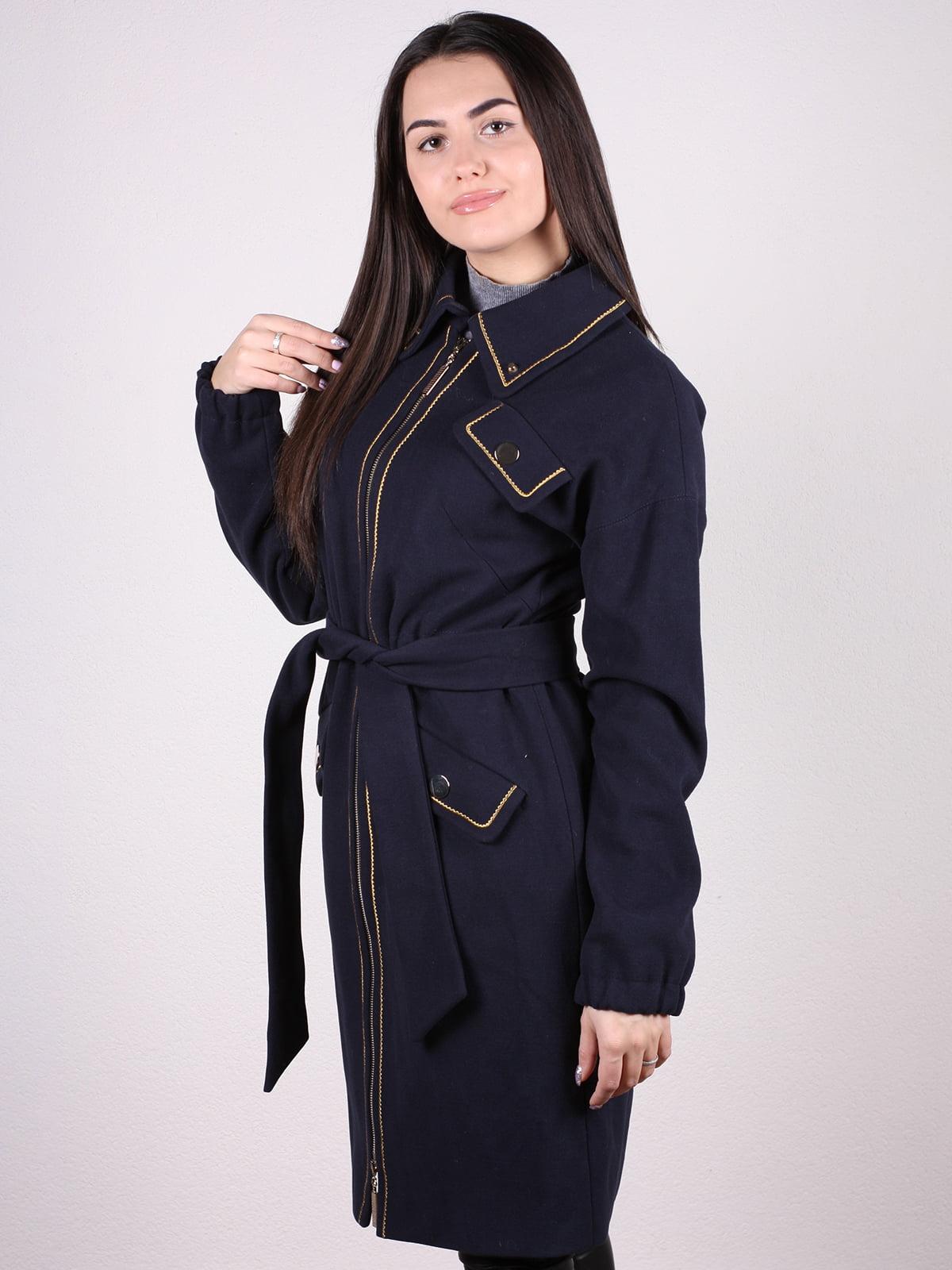 Пальто темно-синее | 4922386 | фото 2