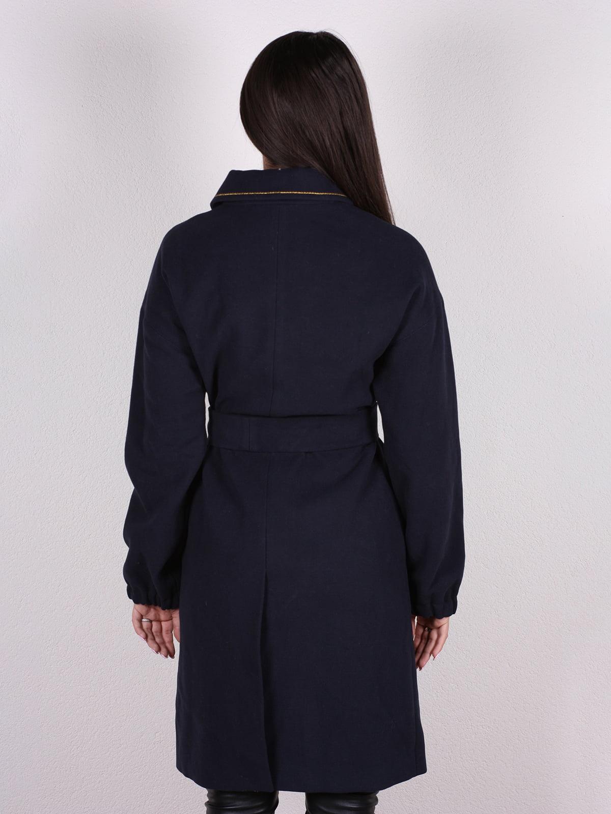 Пальто темно-синее | 4922386 | фото 3