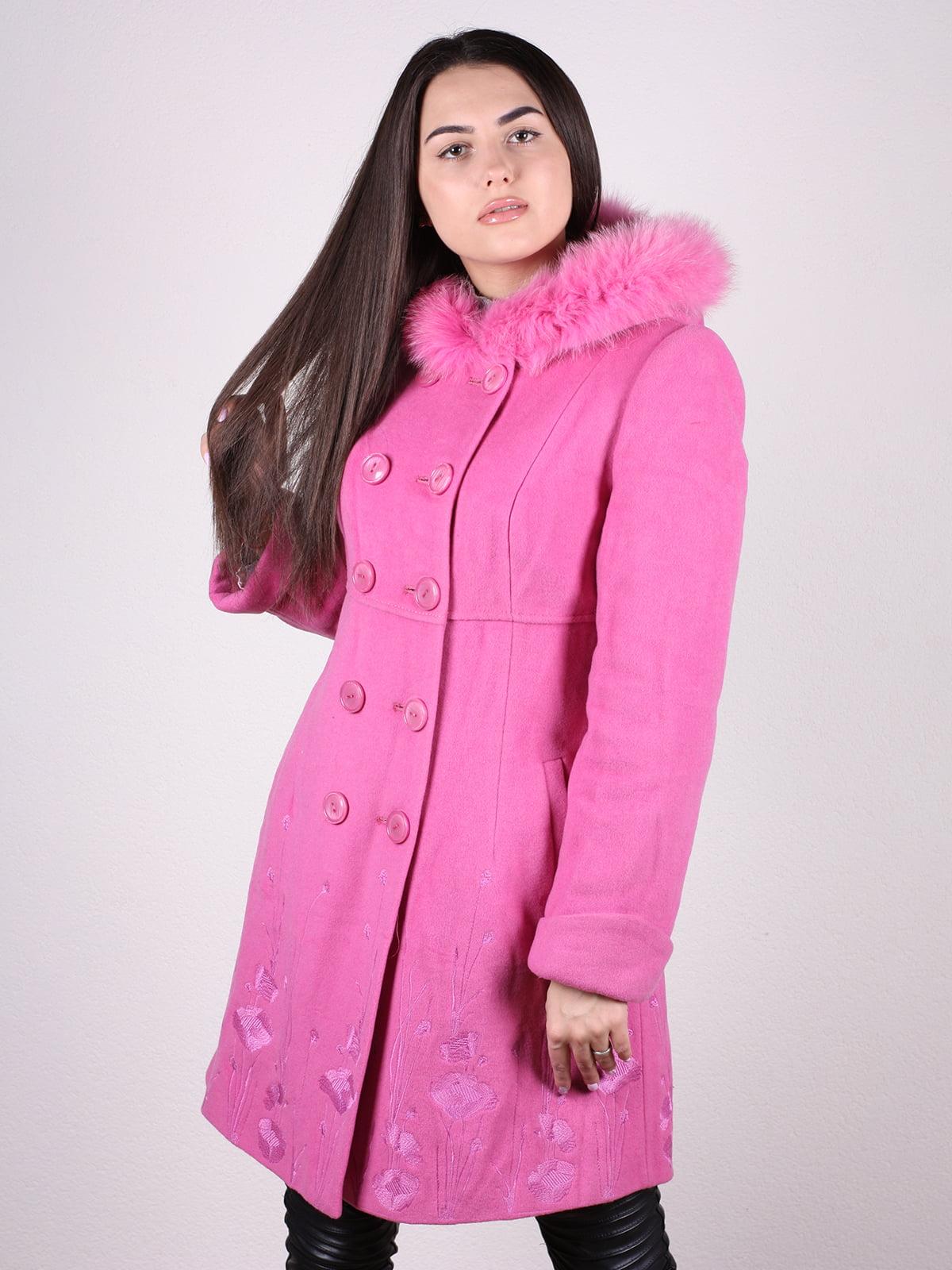 Пальто розовое   4922387