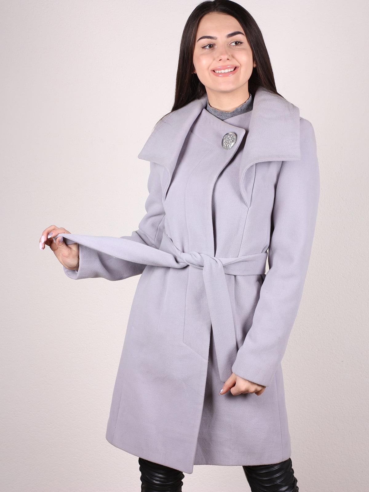 Пальто серое   4922396