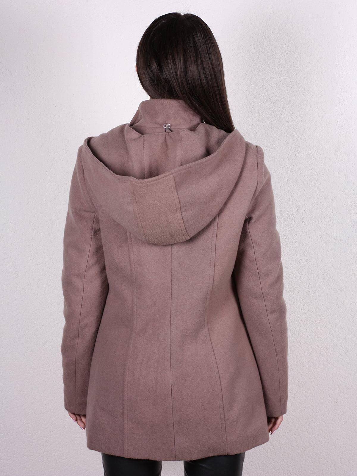 Пальто кофейно-пудрового цвета | 4922424 | фото 3