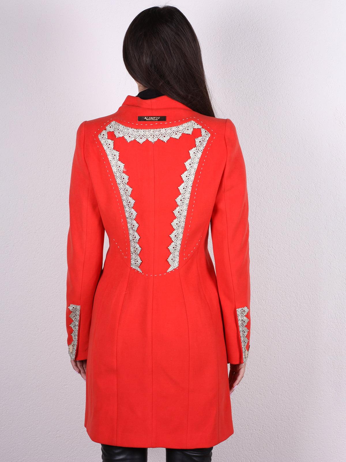 Пальто красное   4922426