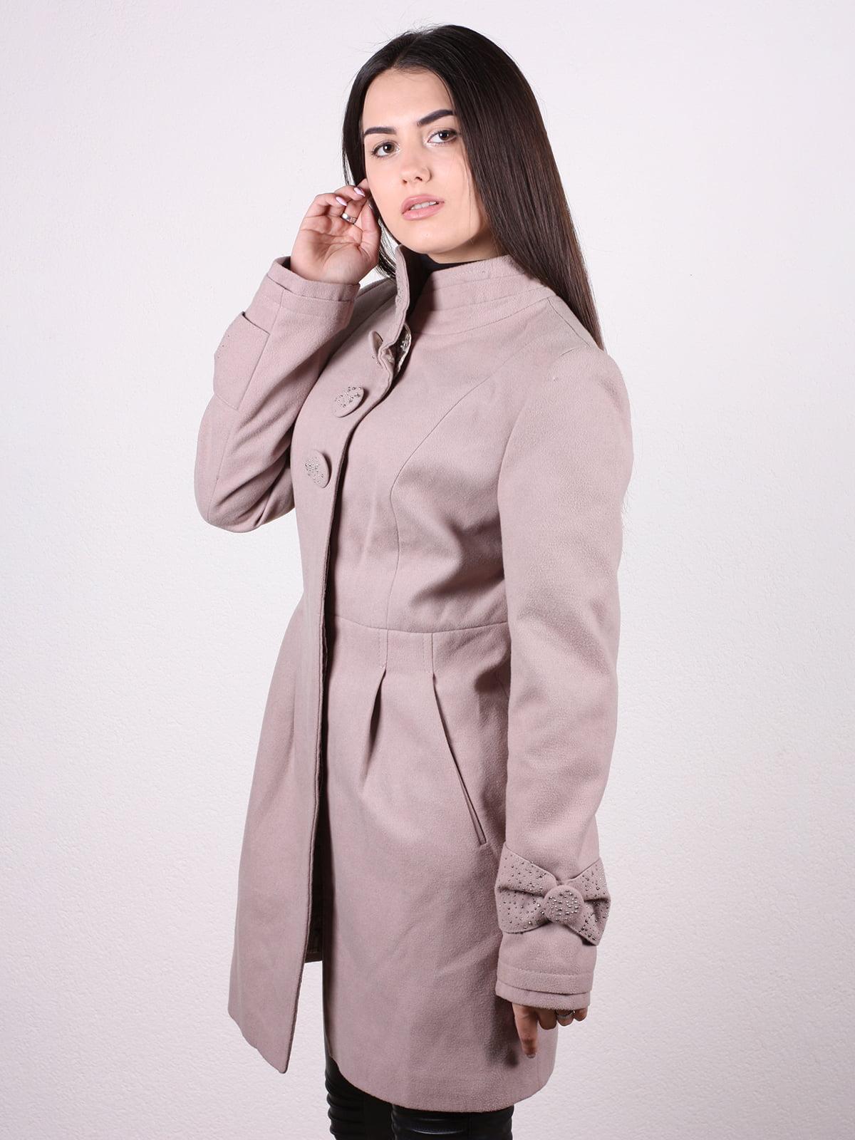 Пальто бежевое | 4922428 | фото 2