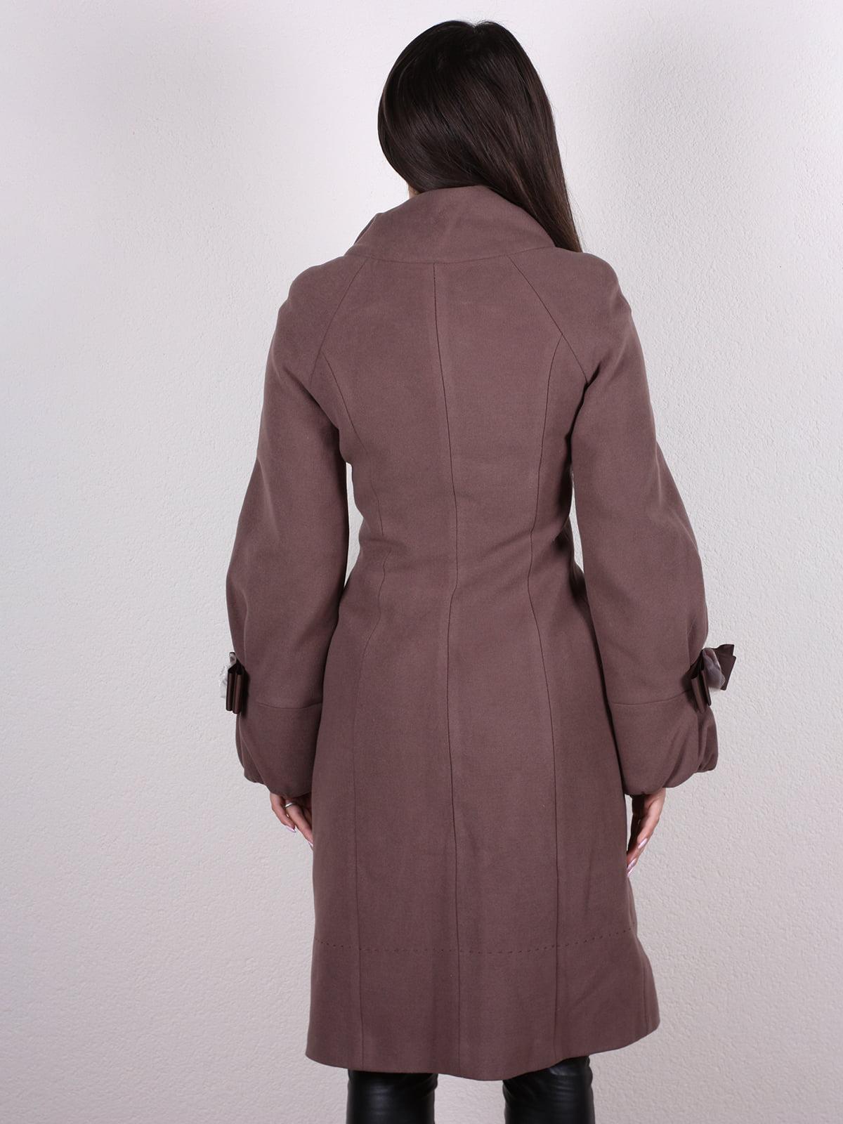 Пальто кофейно-сиреневого цвета | 4922431 | фото 3