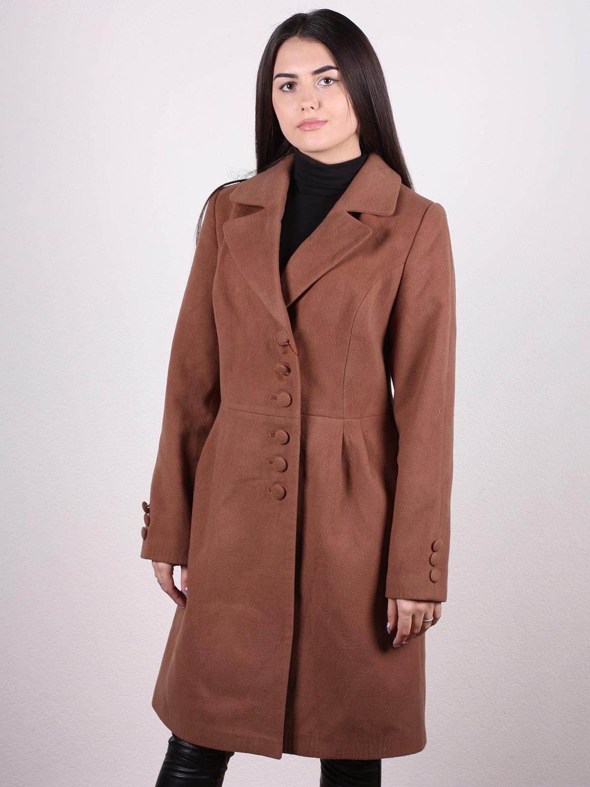 Пальто коричневое | 4922432