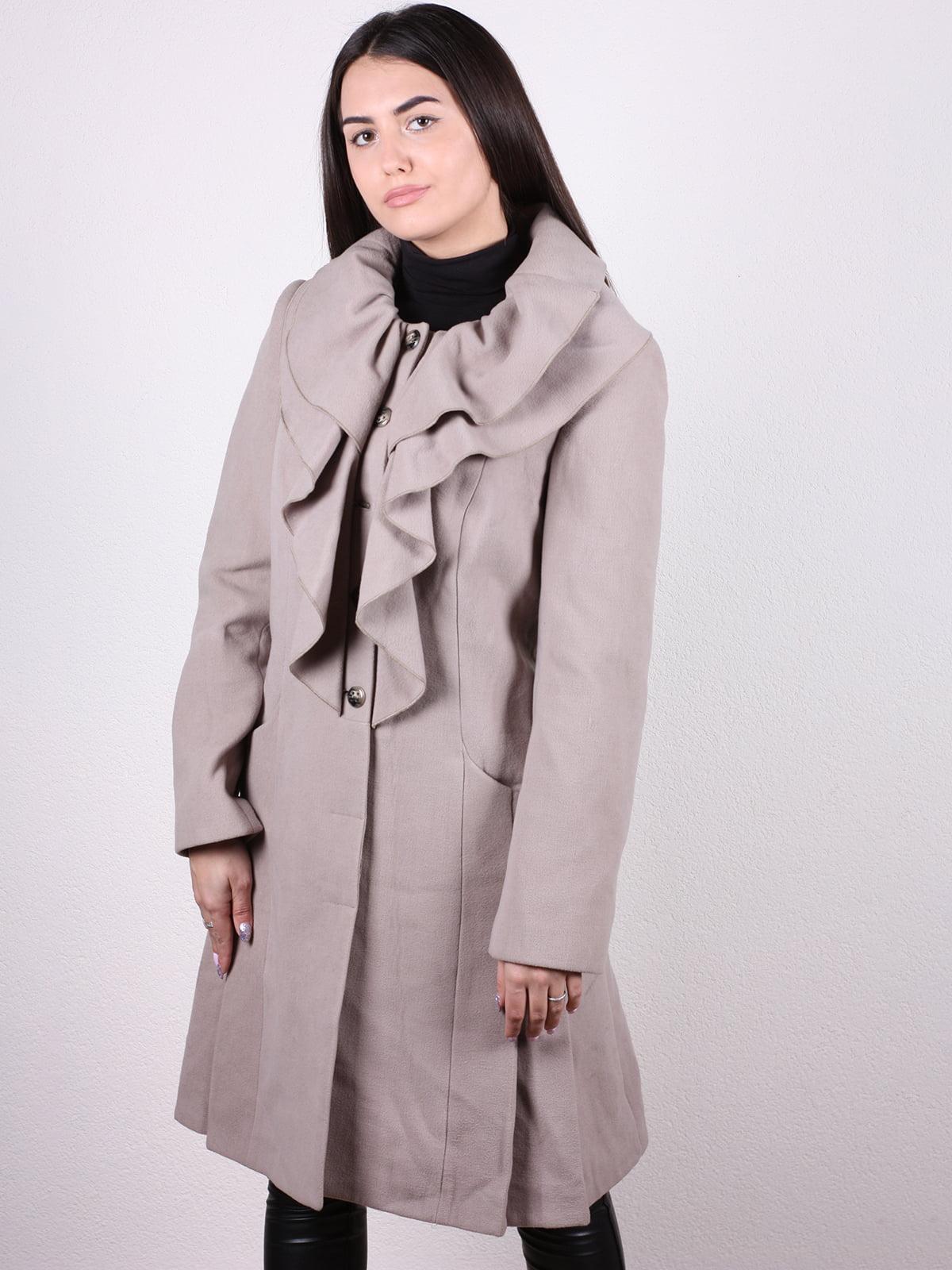 Пальто бежевое   4922435
