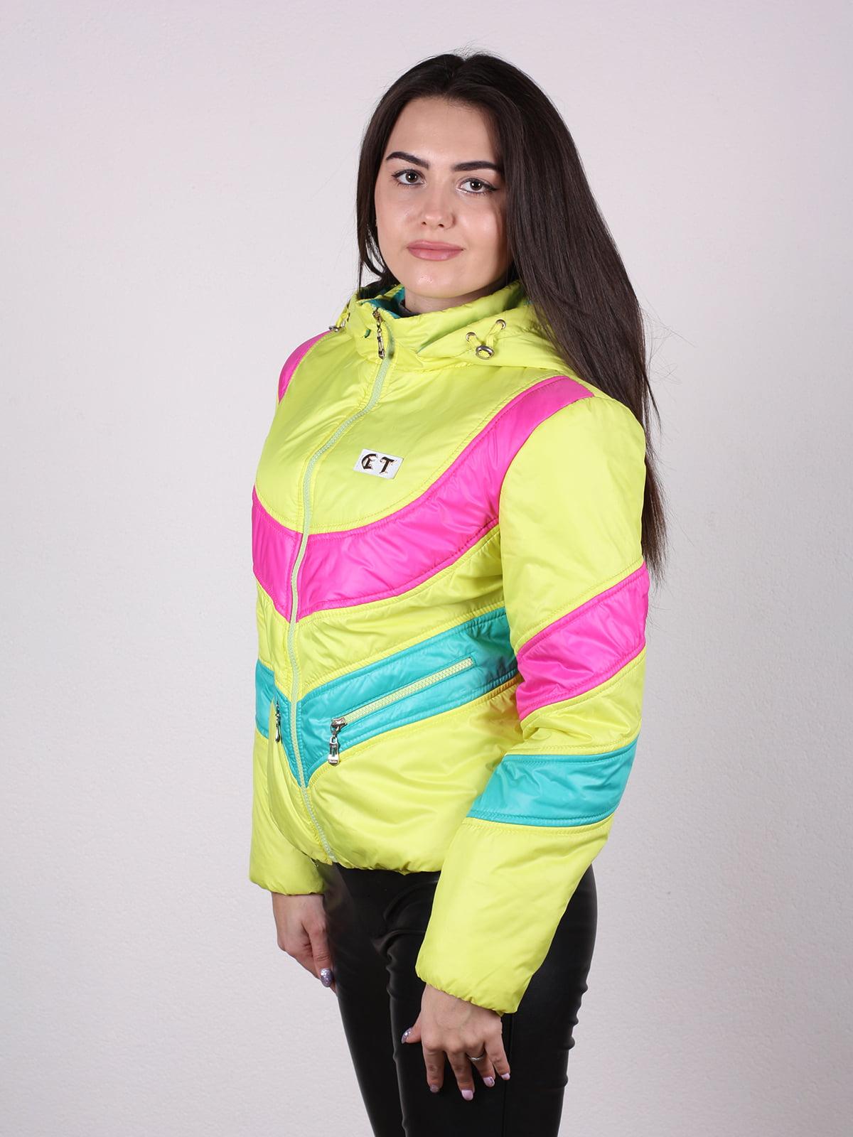 Куртка разноцветная   4922449   фото 2