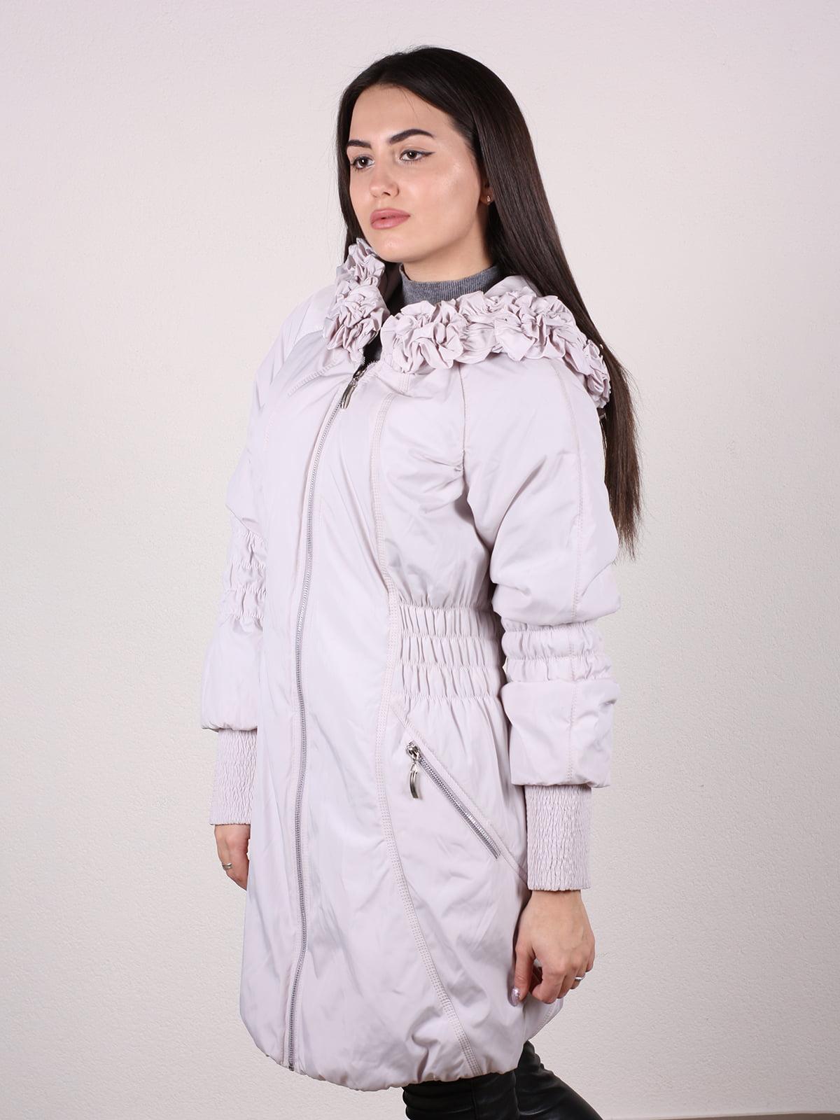 Пальто бежево-серого цвета | 4922457