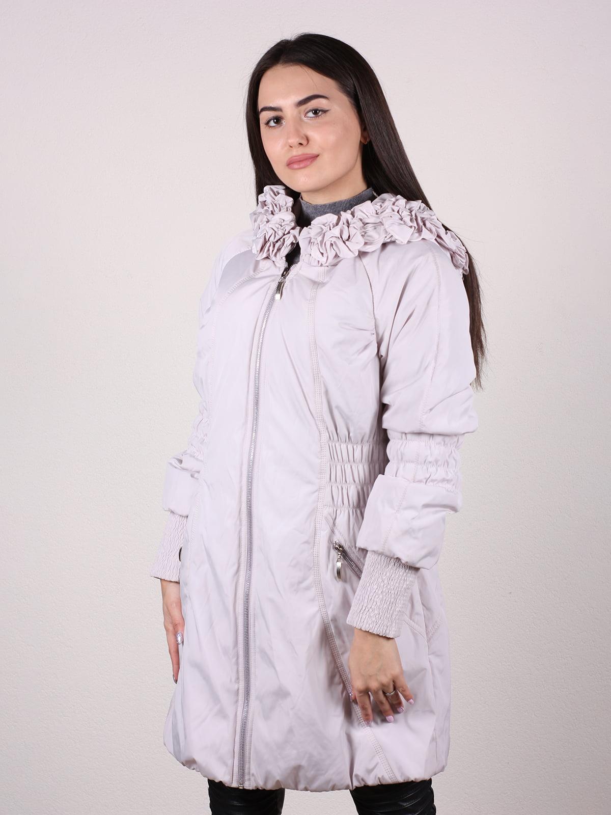Пальто бежево-серого цвета | 4922457 | фото 2