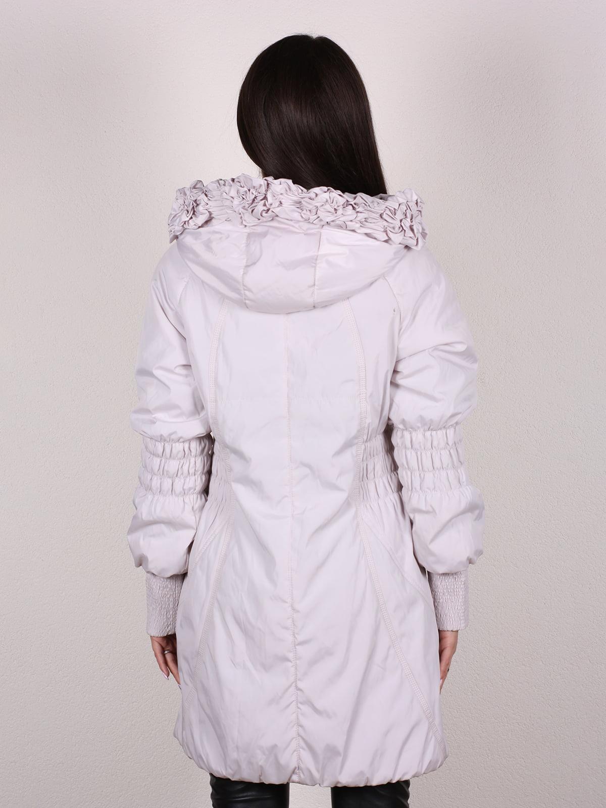 Пальто бежево-серого цвета | 4922457 | фото 3