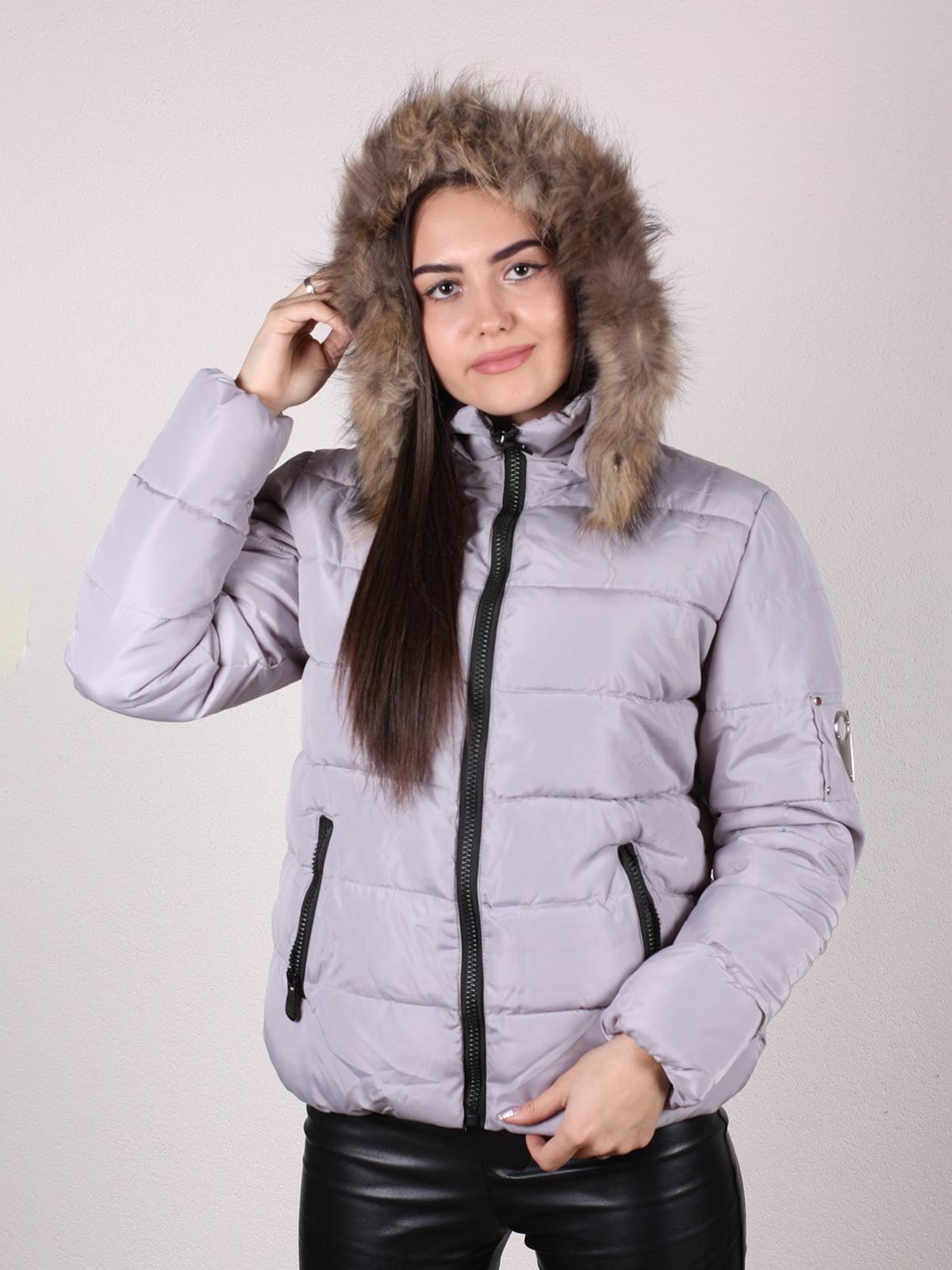 Куртка бежево-серая | 4922483