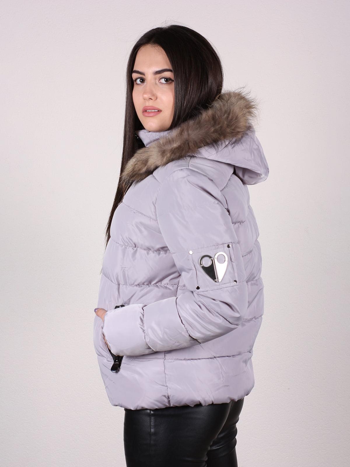 Куртка бежево-серая | 4922483 | фото 2