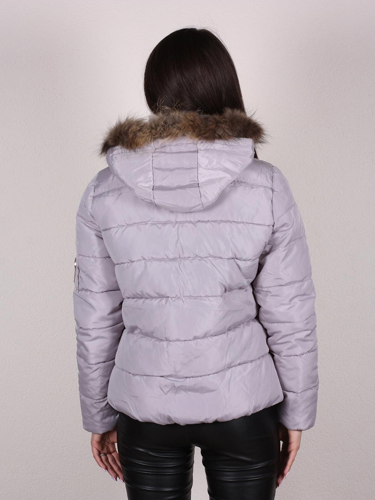 Куртка бежево-серая | 4922483 | фото 3
