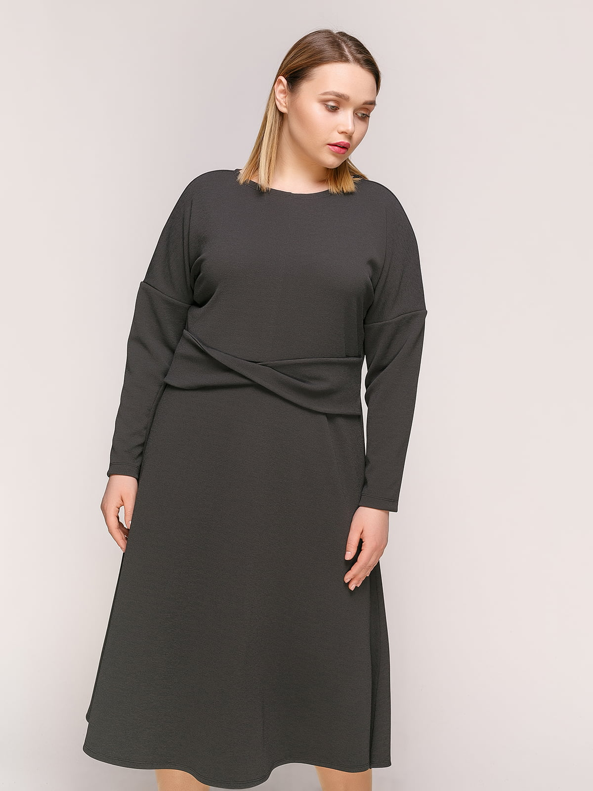 Платье темно-серое | 4916136