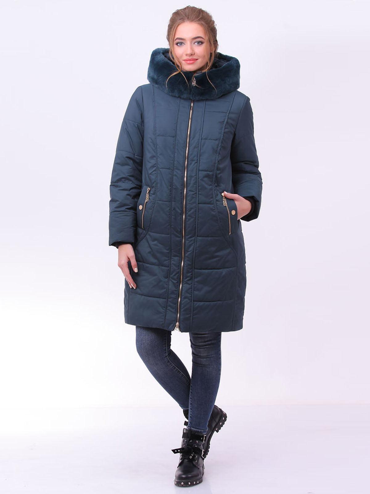 Пальто смарагдового кольору | 4923939