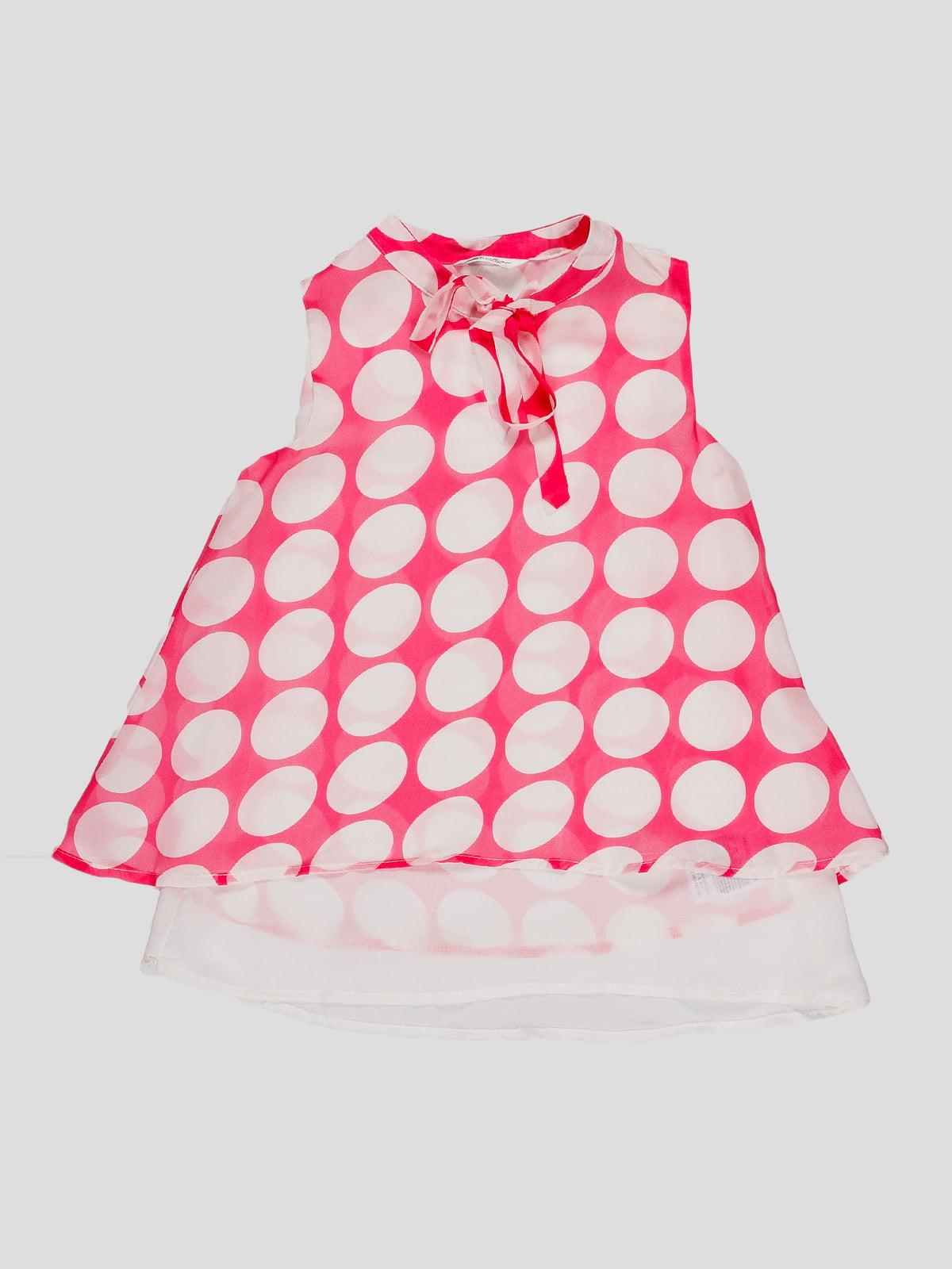 Блуза малинового кольору в горох   4781415