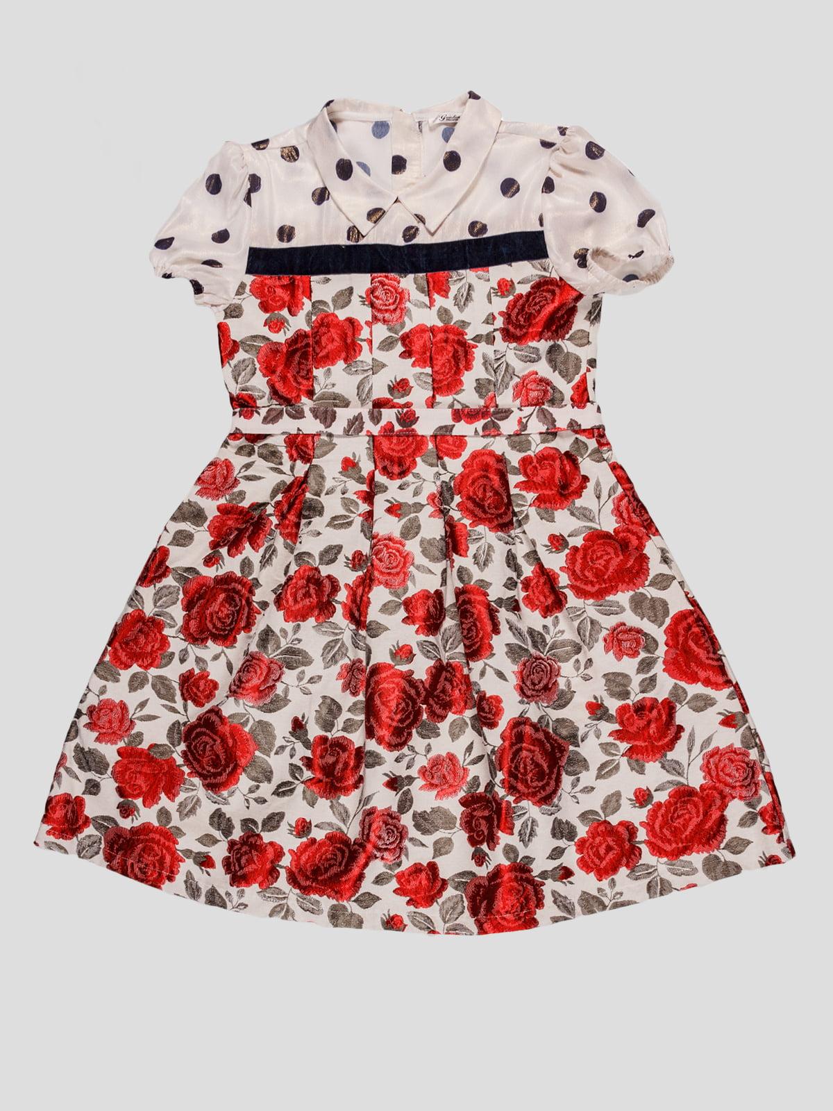 Платье в цветочный принт | 4781495