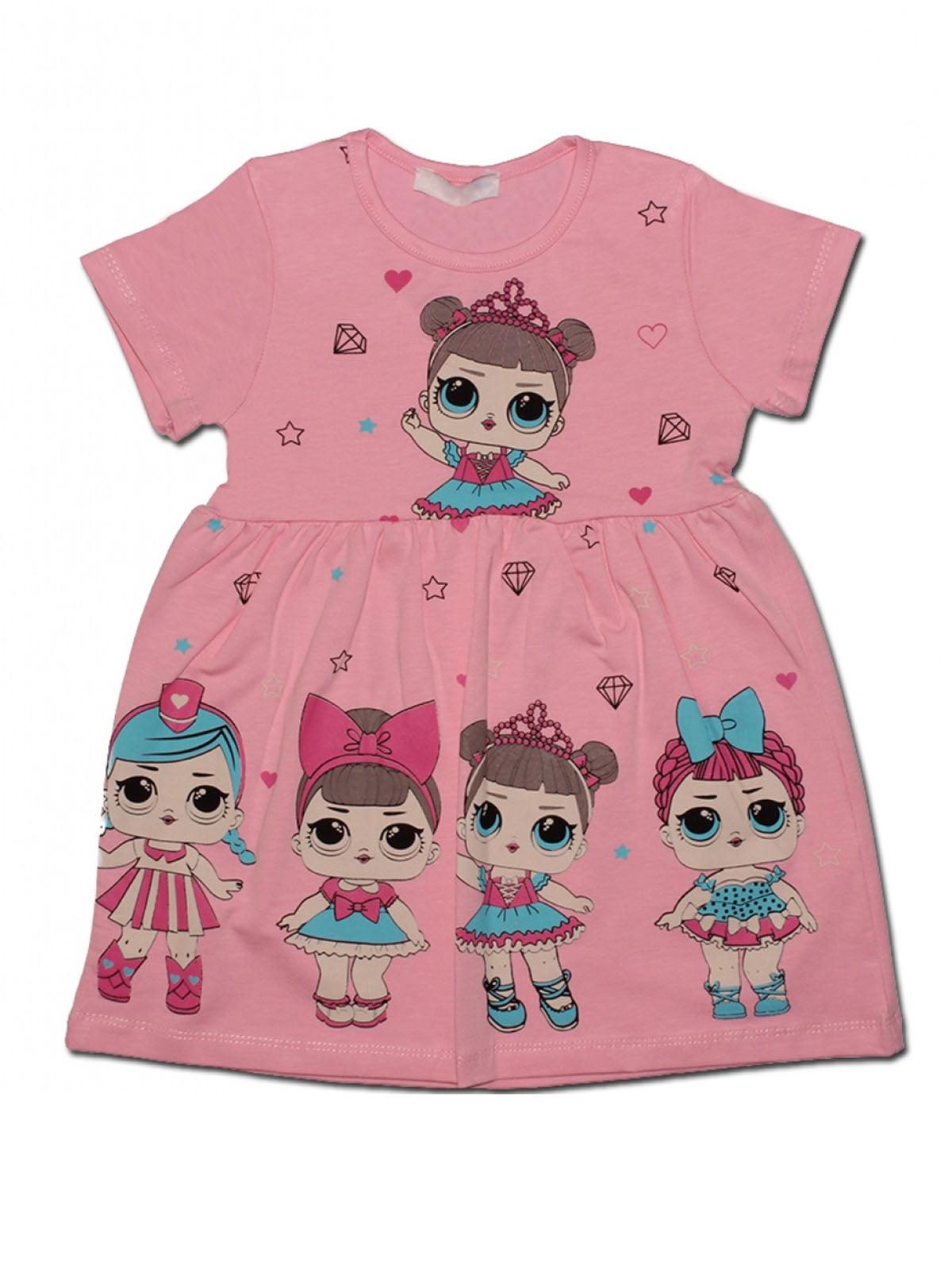 Сукня рожева з принтом   4935166