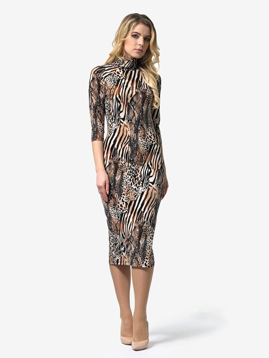 Сукня анімалістичного забарвлення | 4948235