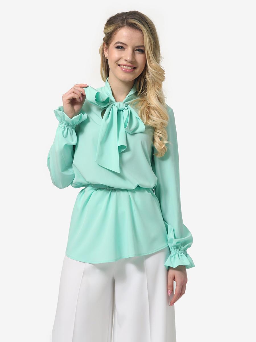Блуза м'ятного кольору | 4948247