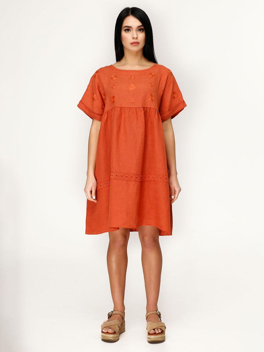 Сукня цегляного кольору | 4949893