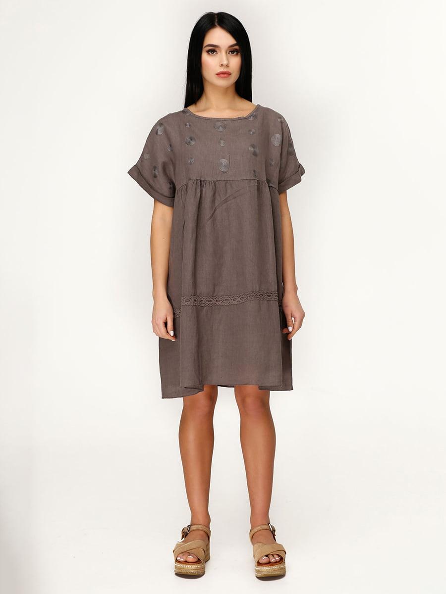Платье коричневое | 4949894